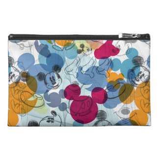 Mickey & Friends | Mouse Head Sketch Pattern Travel Accessories Bag