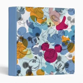 Mickey & Friends | Mouse Head Sketch Pattern Vinyl Binder