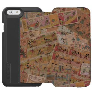Mickey & Friends | Retro Colored Comic Strip Incipio Watson™ iPhone 6 Wallet Case