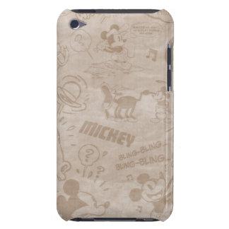 Mickey & Friends   Retro Faded Strip Barely There iPod Case