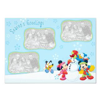 Mickey & Friends Snow: Season's Greetings Card