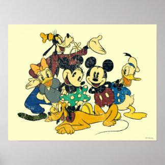 Mickey & Friends   Vintage Hug Poster