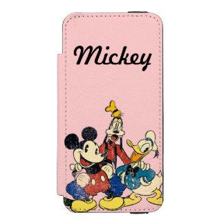 Mickey & Friends | Vintage Mickey, Goofy, Donald Incipio Watson™ iPhone 5 Wallet Case