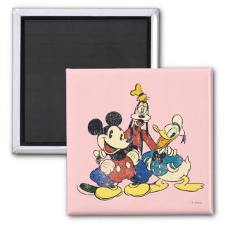 Mickey & Friends | Vintage Mickey, Goofy, Donald Magnet