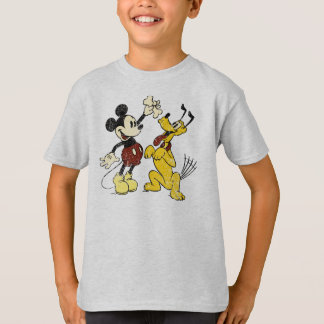 Mickey & Friends | Vintage Mickey & Pluto T-Shirt
