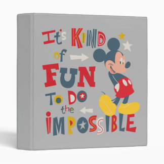 Mickey | Fun To Do The Impossible 2 3 Ring Binders
