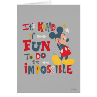 Mickey | Fun To Do The Impossible 2 Card