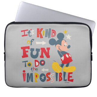 Mickey | Fun To Do The Impossible 2 Computer Sleeve