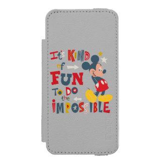 Mickey | Fun To Do The Impossible 2 Incipio Watson™ iPhone 5 Wallet Case