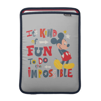 Mickey   Fun To Do The Impossible 2 MacBook Air Sleeves