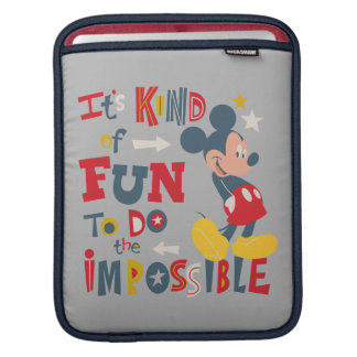 Mickey   Fun To Do The Impossible 2 Sleeve For iPads