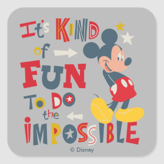 Mickey | Fun To Do The Impossible 2 Square Sticker