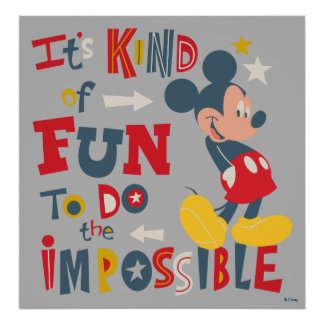 Mickey | Fun To Do The Impossible Poster