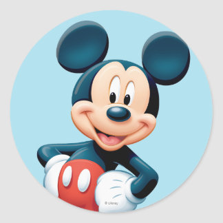 Mickey | Hands on Hips Classic Round Sticker