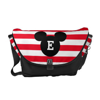 Mickey Head Silhouette Striped Pattern | Monogram Commuter Bag
