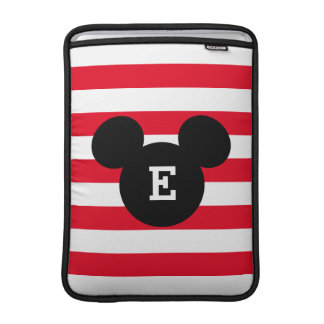 Mickey Head Silhouette Striped Pattern | Monogram MacBook Air Sleeves