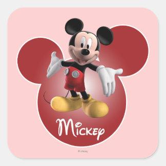 Mickey Mickey Clubhouse | Head Icon Square Sticker