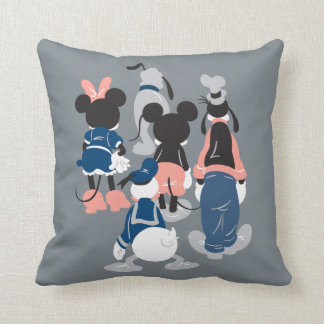 Mickey | Mickey Friend Turns Throw Pillow