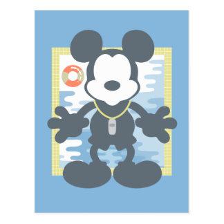Mickey | Mickey Life Guard Postcard