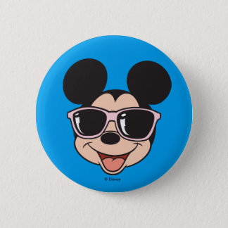 Mickey | Mickey Smiling Sunglasses 2 Inch Round Button