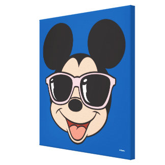 Mickey | Mickey Smiling Sunglasses 6 Canvas Print
