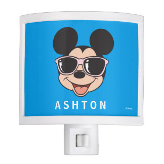 Mickey | Mickey Smiling Sunglasses - Add Your Name Night Light