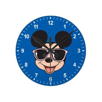 Mickey   Mickey Smiling Sunglasses Clocks