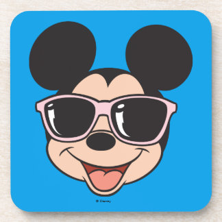 Mickey | Mickey Smiling Sunglasses Drink Coaster