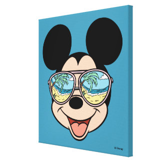 Mickey | Mickey Tropical Sunglasses 6 Canvas Print