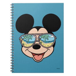 Mickey | Mickey Tropical Sunglasses Spiral Notebook