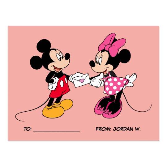 Mickey & Minnie | Be Mine Postcard