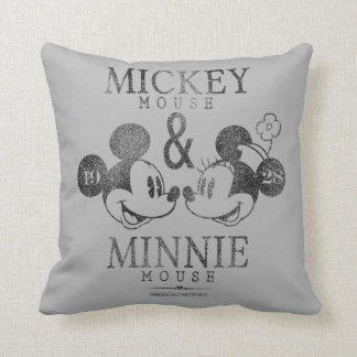 Mickey & Minnie | Est. 1928 Throw Pillow