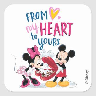 Mickey & Minnie | From My Heart to Yours Square Sticker