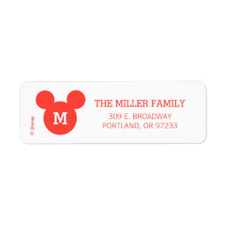 Mickey & Minnie | Ho Ho Ho Red Icon with Monogram