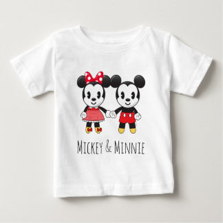 Mickey & Minnie Holding Hands Emoji 2 Baby T-Shirt