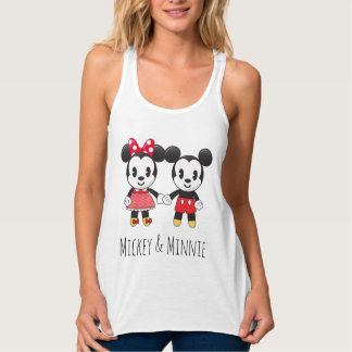 Mickey & Minnie Holding Hands Emoji 2 Tank Top