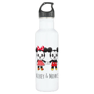 Mickey & Minnie Holding Hands Emoji 710 Ml Water Bottle