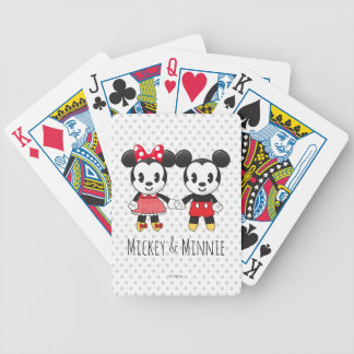 Mickey & Minnie Holding Hands Emoji Bicycle Playing Cards