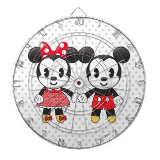 Mickey & Minnie Holding Hands Emoji Dart Board