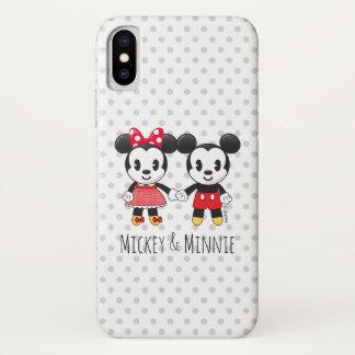Mickey & Minnie Holding Hands Emoji iPhone X Case