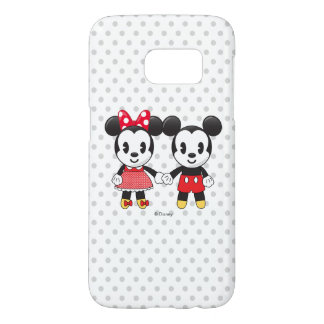 Mickey & Minnie Holding Hands Emoji Samsung Galaxy S7 Case