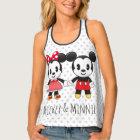 Mickey & Minnie Holding Hands Emoji Tank Top