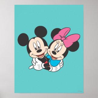 Mickey & Minnie | Hugging Poster