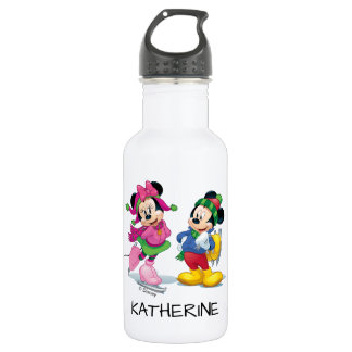 Mickey & Minnie Ice Skating 532 Ml Water Bottle