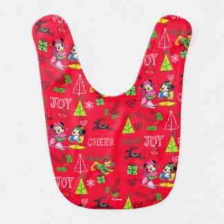Mickey & Minnie Ice Skating Bib
