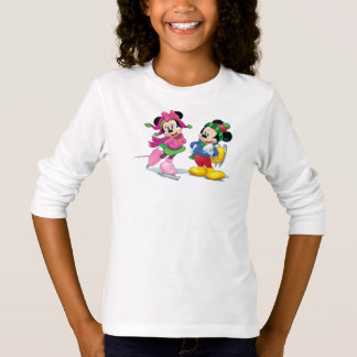 Mickey & Minnie Ice Skating T-Shirt