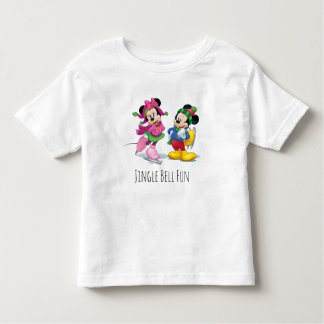 Mickey & Minnie Ice Skating Toddler T-shirt