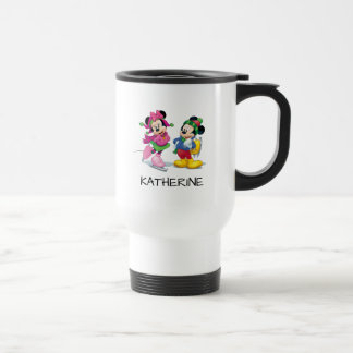 Mickey & Minnie Ice Skating Travel Mug