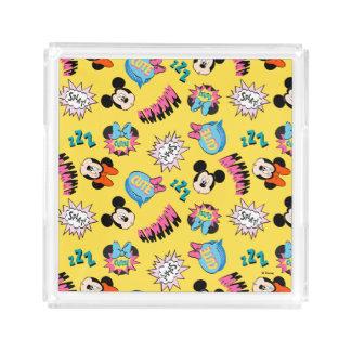 Mickey & Minnie | Super Hero Pop Pattern Acrylic Tray