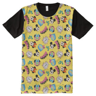 Mickey & Minnie | Super Hero Pop Pattern All-Over-Print T-Shirt